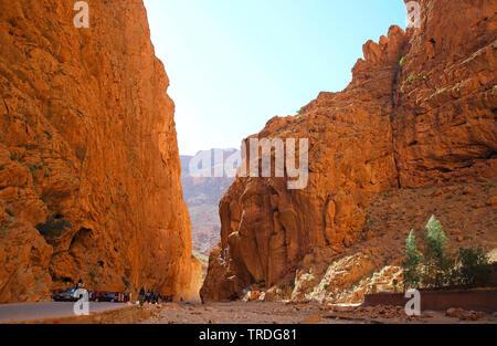 Todra-schlucht, Marokko Tinghir - Stockfoto
