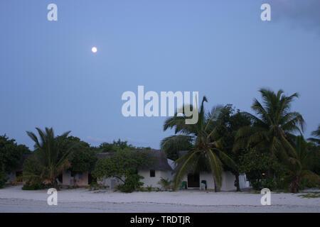 Paradies auf Erde bei Nacht, Seychellen - Stockfoto