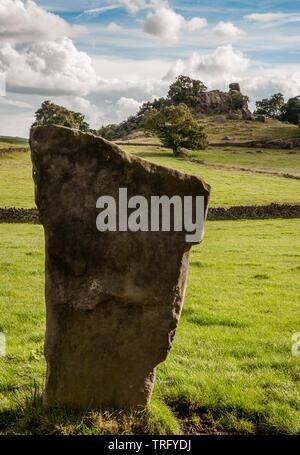 Neun Stein schließen Stone Circle und Robin Hood's Stride in der Nähe von Bakewell in Derbyshire Peak District DE - Stockfoto