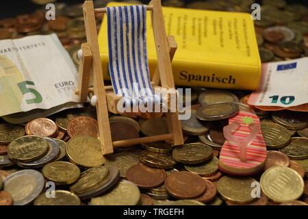 Urlaub Geld - die Kosten der Reisen - Stockfoto