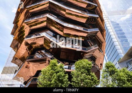 Die Struktur ist das Herzstück der Hudson Yards Komplex, New York City, USA - Stockfoto