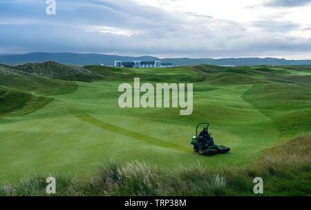 Anzeigen von machrie Golf Links Golf Course auf Islay. In der Inneren Hebriden, Schottland, Großbritannien - Stockfoto