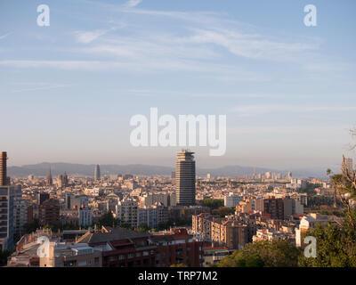 Barcelona im Sonnenuntergang, Spanien - Stockfoto