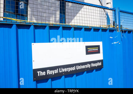 Neu, neu, gebaut, unter, Bau, Royal Liverpool University Hospital, Liverpool, Merseyside, Nordirland, Stadt, England, UK, GB, Großbritannien, Europa, - Stockfoto