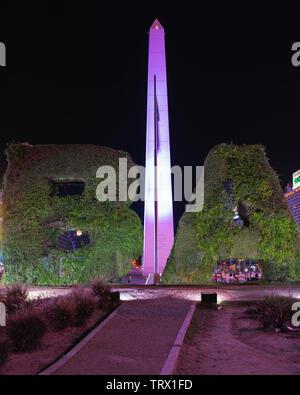 Der Obelisk an der Plaza de La Republica, Buenos Aires, Argentinien - Stockfoto
