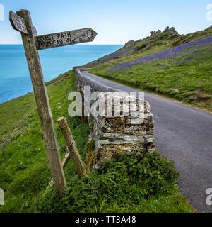 Küstenlandschaft am Startpunkt, Devon - Stockfoto