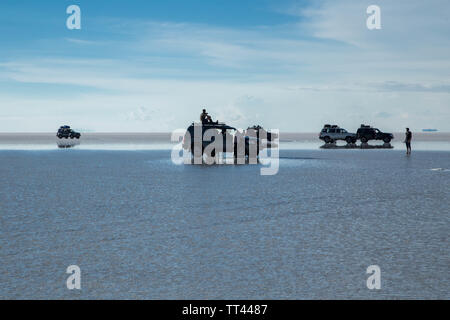 Die bolivianische Salt Flats in Uyuni - Stockfoto