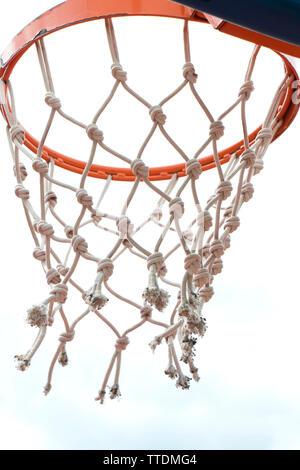 Basketball ring Ant net. In niedrigen Winkel, Detail - Stockfoto