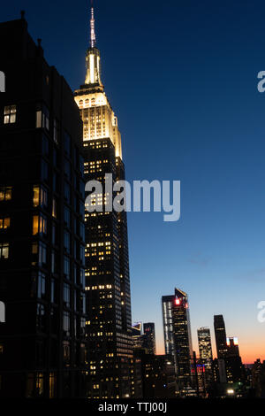 Das Empire State Building ist ein iconic Symbol von New York City, USA - Stockfoto