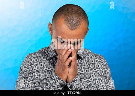 Stattliche business Mann mit einer depressiven Ausdruck - Stockfoto