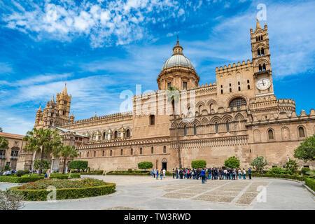 Die Kathedrale von Palermo auf Sizilien, Italien - Stockfoto