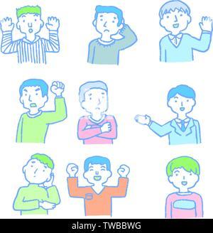 Dies ist ein analoger Stil Abbildungen von Männern emotionalen Ausdruck. - Stockfoto