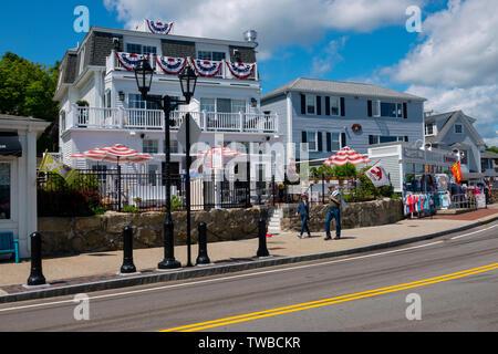 USA Massachusetts MA Plymouth Plimouth Hafen sonnigen Sommertag Pilger hier gelandet - Stockfoto