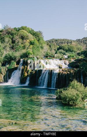 Roski Wasserfall, Nationalpark Krka, Kroatien - Stockfoto