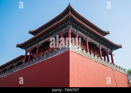 Der königliche Palast Pavillon im verboten Stadt in Peking - Stockfoto