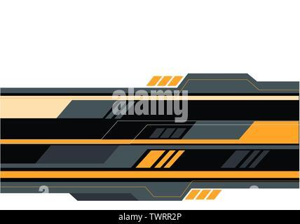 Abstrakte gelb grau Polygon futuristische Technologie auf weißen Design modern creative Hintergrund Vector Illustration. - Stockfoto