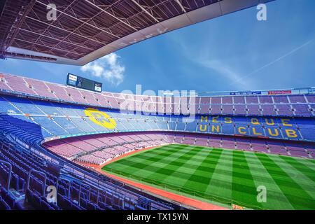 Barcelona Camp Nou Stadion - Stockfoto