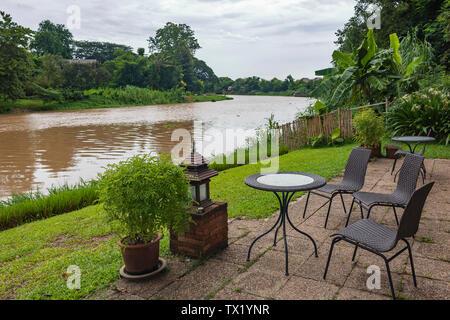 Landschaft von Chiang Mai Ping Fluss - Stockfoto