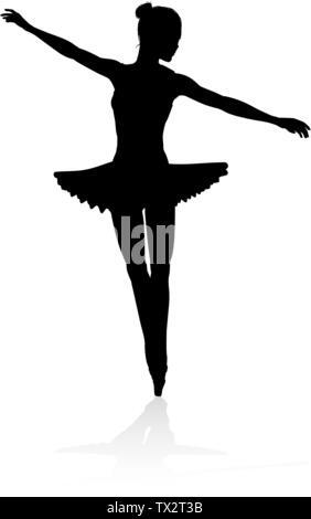 Ballet Dancer Silhouette - Stockfoto