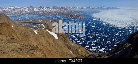Grönland Grönland, die Insel Kulusuk und Ammassalik, Eisberge und Packeis, Treibeis - Stockfoto