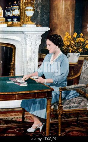 Queen Elizabeth Gefährtin George VI (1895 ñ vom 6. Februar 1952) König des Vereinigten Königreichs und der Dominions des British Commonwealth von 11 Dezember 1936 bis zu seinem Tod - Stockfoto