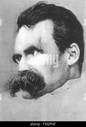 Friedrich Wilhelm Nietzsche (1840-1900). Deutsche Philosophen und Schriftsteller - Stockfoto