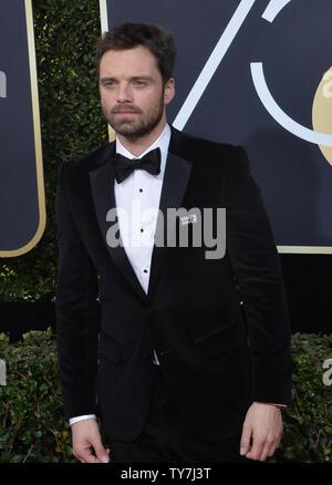 Schauspieler Sebastian Stan besucht die 75. jährliche Golden Globe Awards im Beverly Hilton Hotel in Beverly Hills, Kalifornien am 7. Januar 2018. Foto von Jim Ruymen/UPI - Stockfoto
