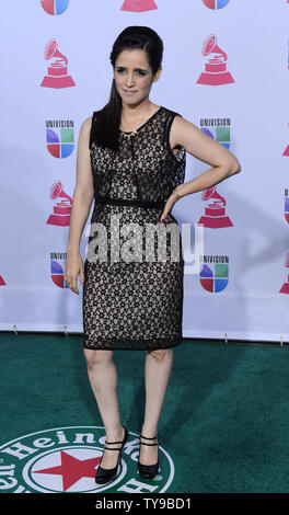 Sängerin Julieta Venegas kommt für den Latin Grammy Awards 2012 im Mandalay Bay Events Center in Las Vegas, Nevada am 15. November 2012. UPI/Jim Ruymen - Stockfoto