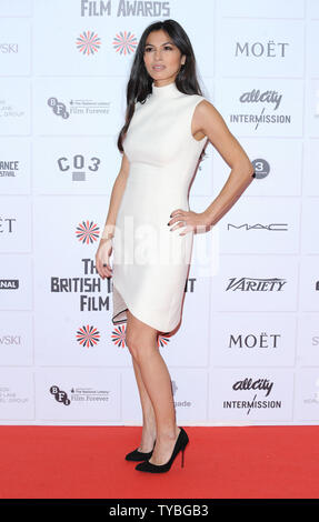 Die französische Schauspielerin Elodie Yung besucht Die 15 Moet British Independent Film Awards am Old Billingsgate in London am 9. Dezember 2012. UPI/Paul Treadway - Stockfoto