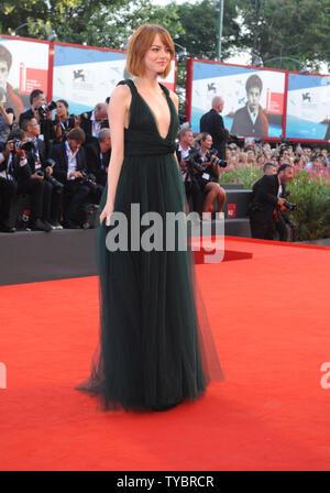 Die amerikanische Schauspielerin Emma Stone besucht die 71. Filmfestival in Venedig Venedig am 27. August 2014. UPI/Rune Hellestad - Stockfoto