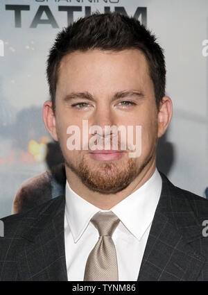 Channing Tatum kommt auf dem roten Teppich bei der Premiere von 'Weißen Haus' im Ziegfeld Theatre in New York City am 25. Juni 2013. UPI/John angelillo - Stockfoto