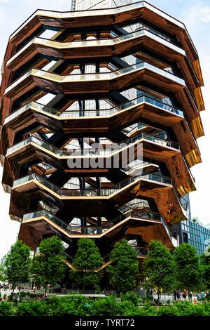 Das Schiff. Hudson Yards, Manhattan. Designer Thomas Heatherwick. New York, NY, USA, Amerika. - Stockfoto