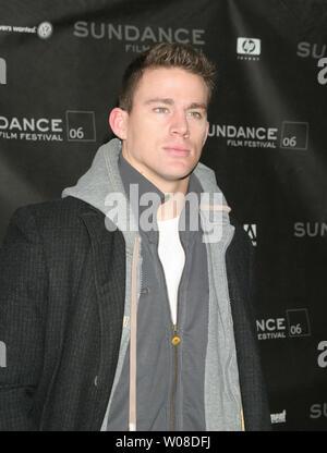 """Channing Tatum kommt an einem Screening von """"ein Leitfaden für die Erkennung ihrer Heiligen' für Sundance 2006 Racquet Club in Park City, Utah am 20. Januar 2006. (UPI Foto/Roger Wong) - Stockfoto"""