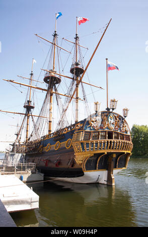 Schiff der Linie Goto Predestinatsia in Woronesch. Russland - Stockfoto