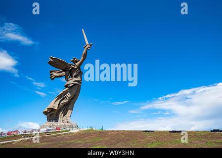 Wolgograd, Russland - 26. MAI 2019: Mutterland Anrufe Denkmal in Wolgograd, Russland. - Stockfoto