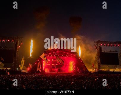 Pilton, Somerset, UK. 28. Juni 2019 Stormzy in Glastonbury Festival. Quelle: Jim Houlbrook/Alamy leben Nachrichten - Stockfoto