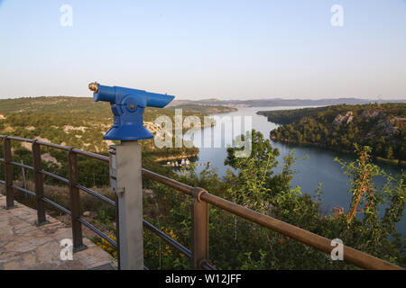 Von der Mündung des Flusses Krka Skradin - Krka Brücke. - Stockfoto
