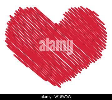 Rotes Herz in grunge Vintage Style. im Alter von Textur des Herzens. Liebhaber tag Konzept. - Stockfoto