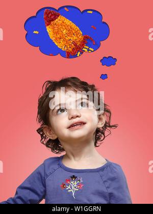 Adorable kleine Mädchen lächelnd - Stockfoto
