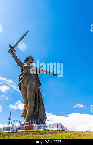 Wolgograd, Russland - 26. MAI 2019: Mutterland Anrufe Denkmal in Wolgograd, Russland - Stockfoto