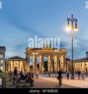 Brandenburger Tor, Brandenburger Tor, Pariser Platz, Pariser Platz, Berlin, Deutschland - Stockfoto