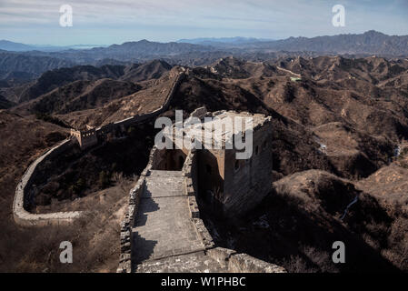 Die große Mauer von China, Jinshanling, Luanping, China, Asien, UNESCO Weltkulturerbe - Stockfoto