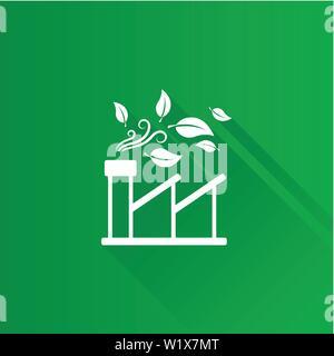 Green Factory Symbol in der Metro Benutzeroberfläche farbe Stil. Industrielle Umgebung freundlich - Stockfoto