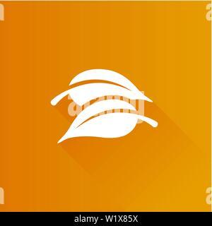 Blätter Symbol in der Metro Benutzeroberfläche farbe Stil. Grüne Umgebung - Stockfoto
