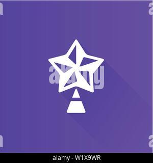 Weihnachten stern Symbol in der Metro Benutzeroberfläche farbe Stil. Feier Jahreszeit Dezember - Stockfoto