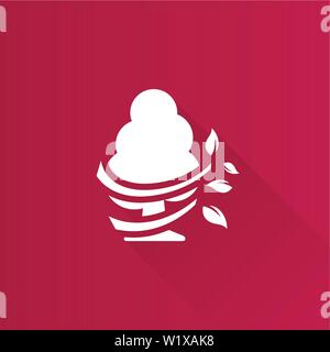 Baum Symbol in der Metro Benutzeroberfläche farbe Stil. - Stockfoto