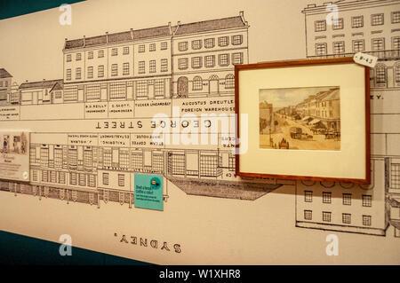 Die Mitchell Flügel die Staatsbibliothek von New South Wales über Macquarie Street Sydney, NSW, Australien - Stockfoto