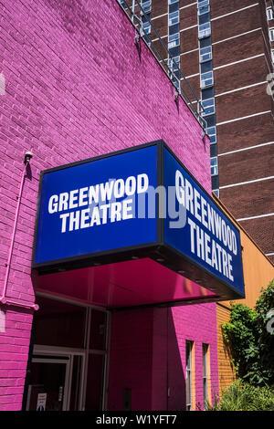 Die Greenwood Theater des King's College London für Vorlesungen, studentische Produktionen angemietet, 55 Weston Street, Borough von Southwark, London, England, Großbritannien - Stockfoto