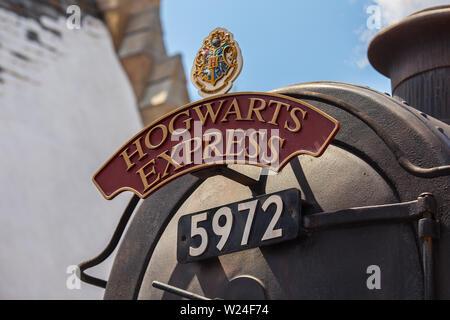 Hogsmeade. Hogwarts Express. Die Zauberwelt von Harry Potter. Universal Studios - Stockfoto