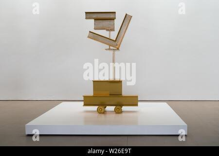 Untitled (Zig Vl) von David Smith, Teil der Yorkshire Sculpture International 2019 in Yorkshire Sculpture Park - Stockfoto